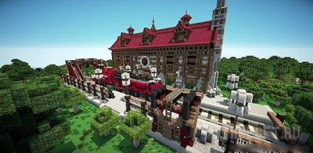 "Карта для minecraft ""The Rustic Station"""