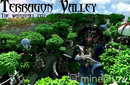 "карта ""Terragon Valley – The Waterfall City"""