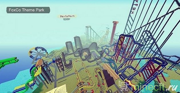 Карты Майнкрафт Парк Развлечений