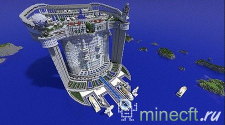 "Карта для minecraft ""Skyscraper: TeamHouse"" небоскрёб"